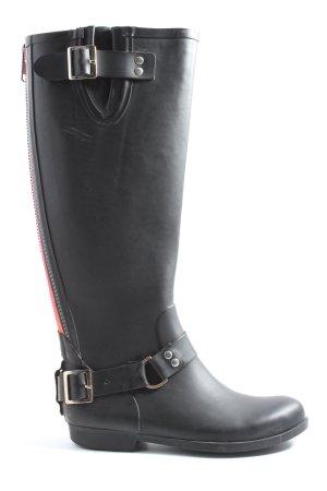 Steve Madden Wellington laarzen zwart-rood casual uitstraling
