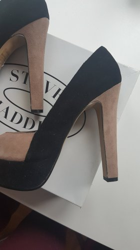 Steve Madden Peep Toe Pumps black-beige