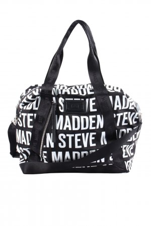 Steve Madden Carry Bag black-white printed lettering casual look