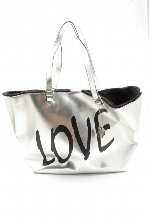 Steve Madden Carry Bag light grey-black printed lettering casual look