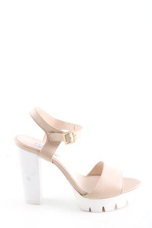 Steve Madden High Heel Sandaletten creme-weiß Casual-Look