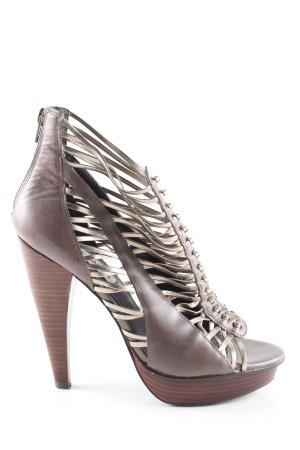 Steve Madden High Heel Sandaletten braun-goldfarben extravaganter Stil