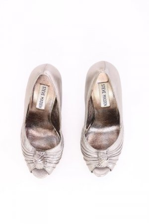 Steve Madden High Heels silver-colored leather