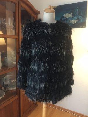 Steve Madden Giacca in eco pelliccia nero-argento