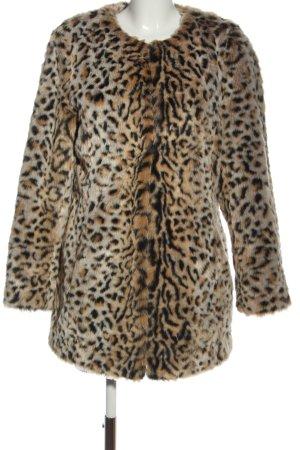 Steve Madden Fake Fur Coat leopard pattern casual look