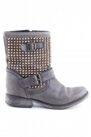 Steve Madden Biker Boots light grey-gold-colored casual look