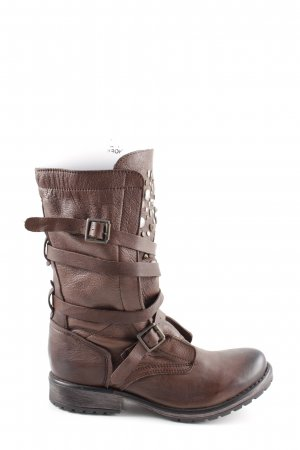 Steve Madden Botas moteras marrón look casual