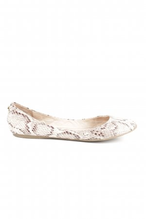 Steve Madden Peep Toe Ballerinas brown-natural white animal pattern casual look