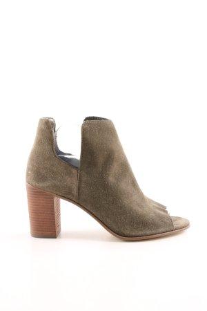 Steve Madden Peep Toe laarsjes khaki-bruin zakelijke stijl