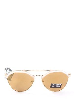 Steve Madden Pilot Brille weiß-braun Casual-Look