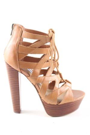 Steve Madden Platform High-Heeled Sandal brown elegant