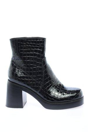 Steve Madden Reißverschluss-Stiefeletten schwarz abstraktes Muster Casual-Look, Größe 38
