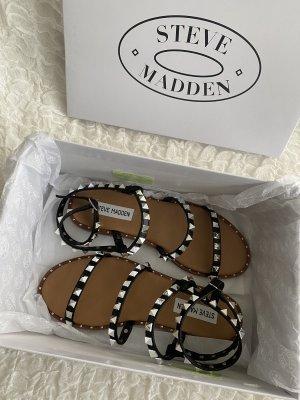 Steve Madden Roman Sandals black-silver-colored