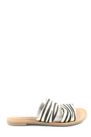 Steve Madden Zuecos negro-blanco estampado de animales look casual