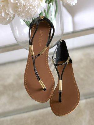 Steve Madden Toe-Post sandals black-gold-colored