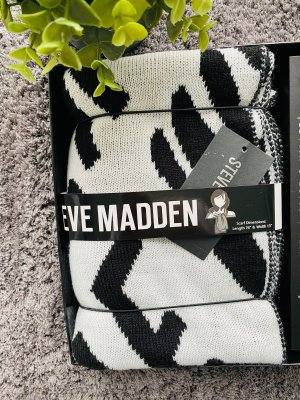 Steve Madden Écharpe en laine blanc-noir