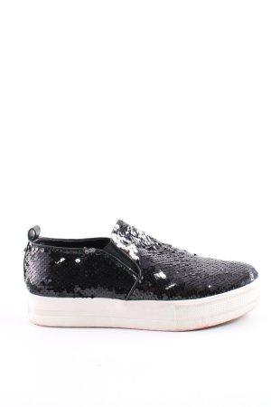 Steve Madden Schlüpfsneaker schwarz-weiß extravaganter Stil