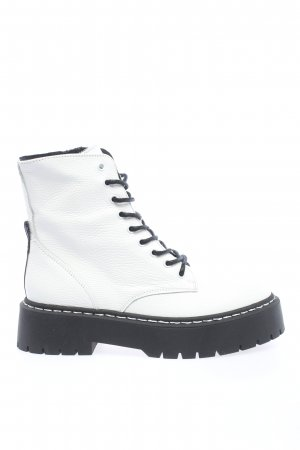 """Steve Madden Lace-up Booties """"Skylar Ankle Boots"""" white"""