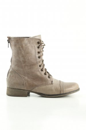 Steve Madden Lace-up Boots natural white business style
