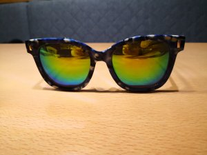 Steve Madden Sonnenbrille blau weiss
