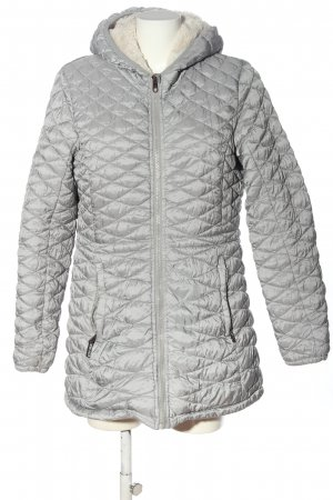 Steve Madden Quilted Jacket light grey quilting pattern casual look