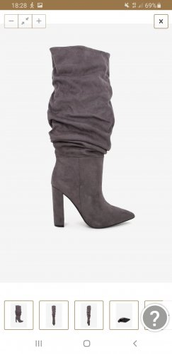 Steve Madden Slouch Boots grey