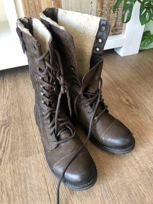 Steve Madden Botas con cordones marrón-marrón oscuro