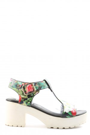 Steve Madden T-Strap Sandals allover print casual look