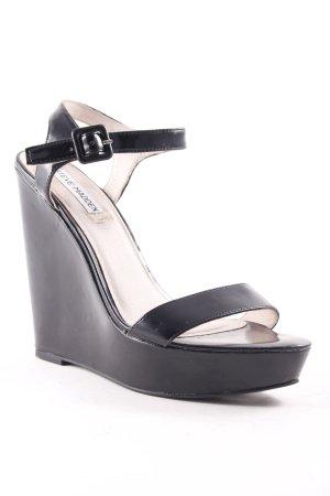 Steve Madden Wedges Sandaletten schwarz klassischer Stil