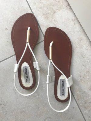 Steve Madden Flip-Flop Sandals gold-colored-white
