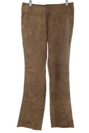 Steven Ashford Pantalon en cuir brun-bronze style classique