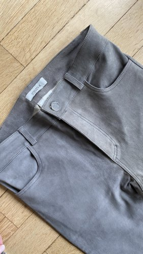 Steven-K Leather Trousers grey leather