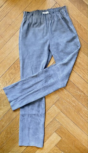 Steven-K Pantalón de cuero azul pálido Cuero