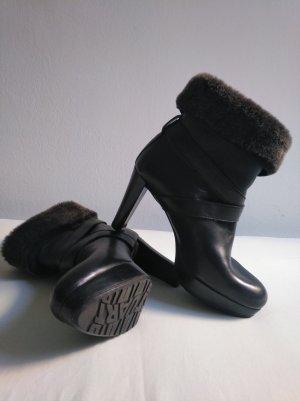 Stuart weitzman Winter Booties taupe-black leather