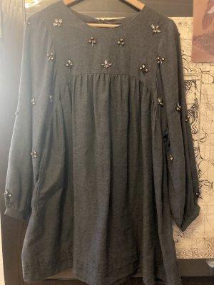 Zara Sukienka typu babydoll srebrny-szary