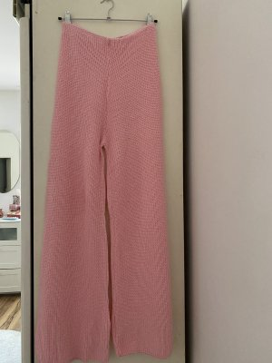 Bohoo Pantalon taille haute rose