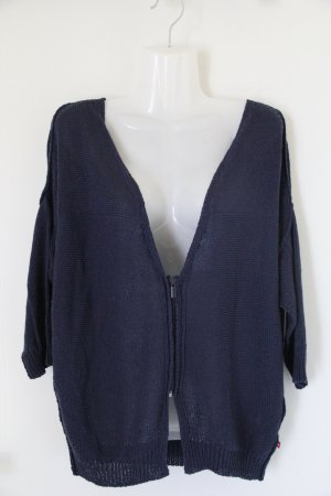 Big Star Short Sleeve Knitted Jacket blue