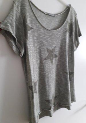 Lindsay Moda Koszulka z dzianiny zielono-szary-khaki Bawełna
