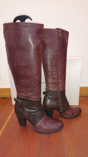 Alberto Fermani High Boots dark brown-bordeaux