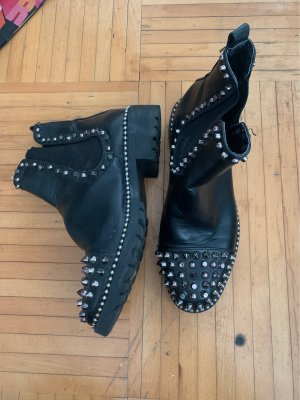 Unbekannte Marke Winter Boots black-silver-colored
