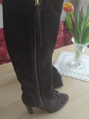 Unisa High Heel Boots black brown leather