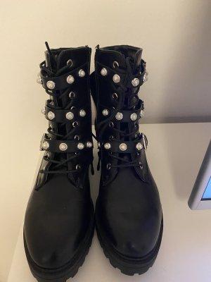 Deichmann Halfhoge laarzen zwart