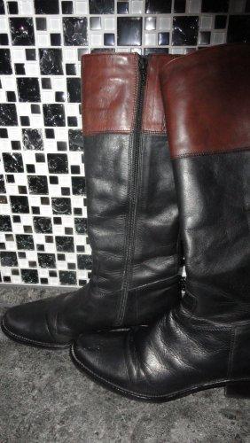 Pierre Cardin Bottes à l'écuyère noir-brun cuir