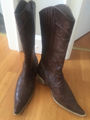 Wide Calf Boots dark brown