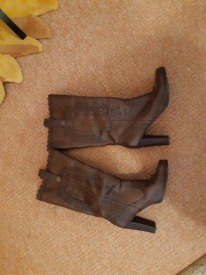 Slip-on Booties dark brown