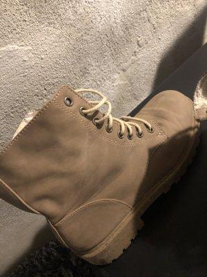 H&M Futrzane buty jasnobrązowy
