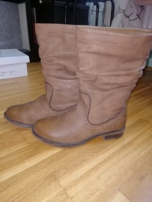 Boots western marron clair