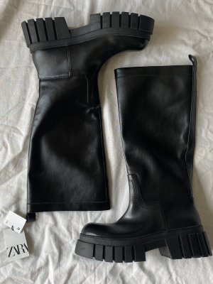 Zara Kaplaarzen zwart