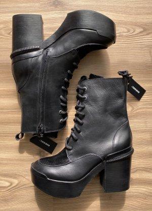 Diesel Cothurne noir cuir