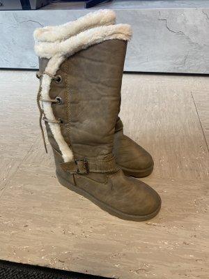 Botas de piel marrón grisáceo